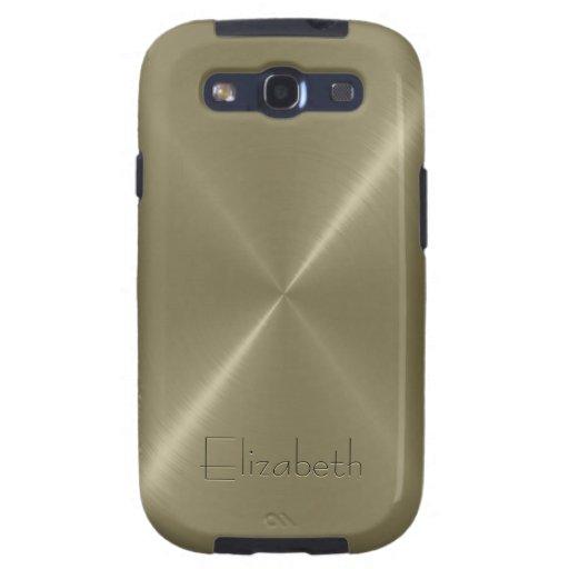 Tan Stainless Steel Metal Look Galaxy S3 Case
