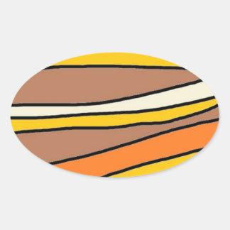 tan streaks.jpg oval sticker