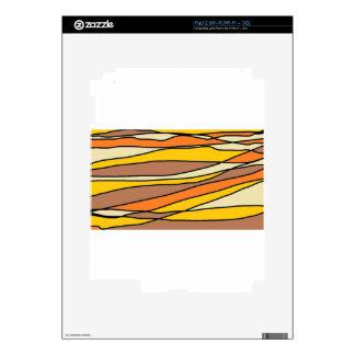 tan streaks.jpg skin for iPad 2