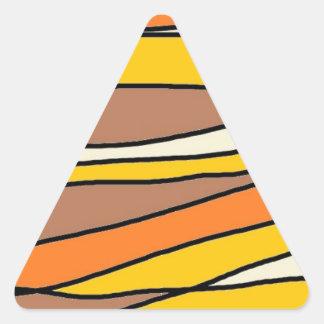 tan streaks.jpg triangle sticker