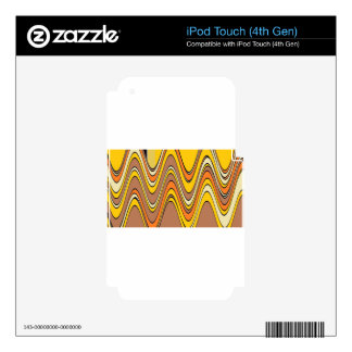 tan streaks rippled.jpg iPod touch 4G decal