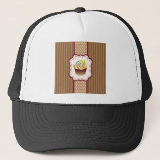 Tan Stripes Lime Cupcake Trucker Hat