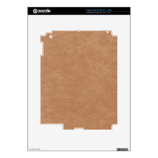 Tan Suede Background II Decals For iPad 2