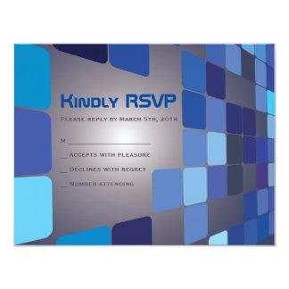 """TAN tarjeta de contestación de Mitzvah del palo de Invitación 4.25"""" X 5.5"""""""