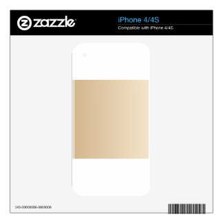 Tan to Champagne Vertical Gradient iPhone 4S Decals