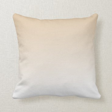 sterlingnights Tan to White Ombre Throw Pillow