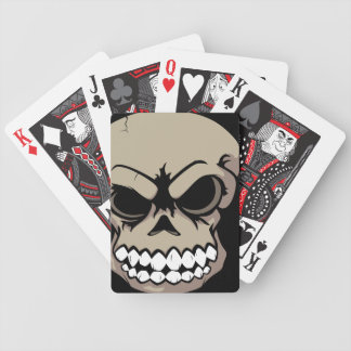 Tan Vector Skull Bicycle Playing Cards