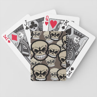 Tan Vector Skull Camo Pattern Bicycle Playing Card Bicycle Playing Cards