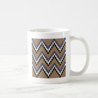 Tan Western Block Chevron Coffee Mug