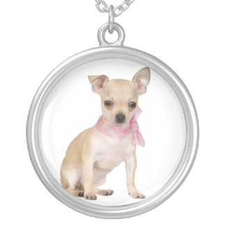 Tan & White Chihuahua Necklace