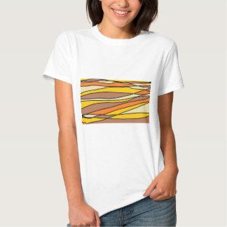 Tan & Yellow streaks Tee Shirt