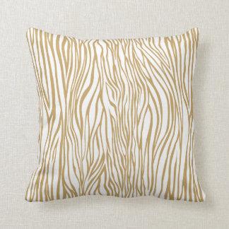 Tan Zebra Animal Print Pillows