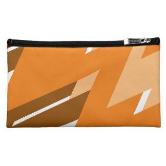 Tan Zig-Zag Designer Mini Bag/Clutch Makeup Bag