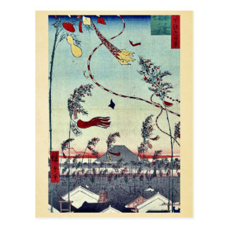 Tanabata festival by Andō Hiroshige Post Cards