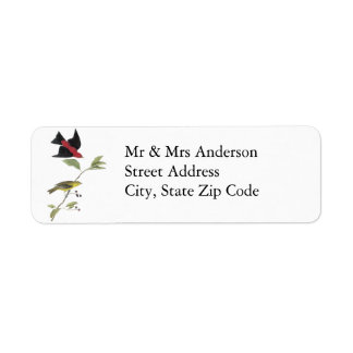 Tanager de escarlata - John James Audubon Etiqueta De Remite
