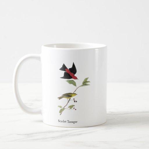 Tanager de escarlata - John James Audubon Tazas De Café
