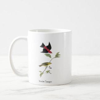 Tanager de escarlata - John James Audubon Taza Clásica