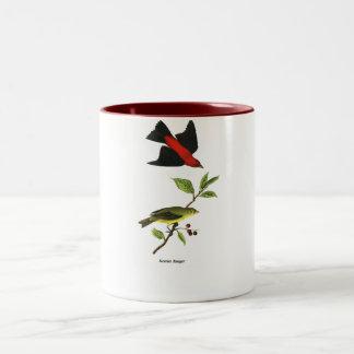 Tanager de escarlata taza de dos tonos