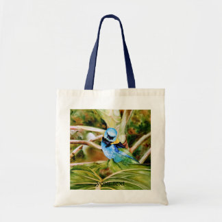 Tanager Portrait Watercolor Budget Tote Bag