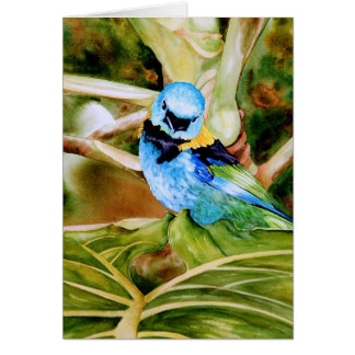 Tanager Portrait Watercolor Card