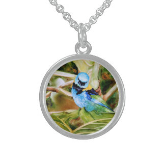 Tanager Portrait Watercolor Custom Jewelry