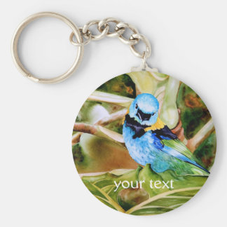 Tanager Portrait Watercolor Keychain