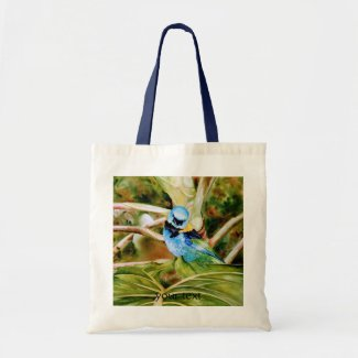 Tanager Portrait Watercolor Tote Bags