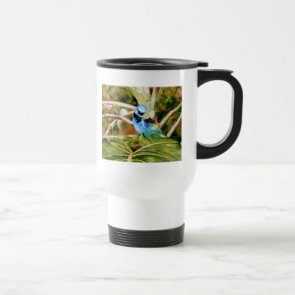 Tanager Portrait Watercolor Travel Mug