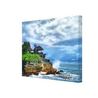 Tanah Lot Bali Temple Poster Canvas Print
