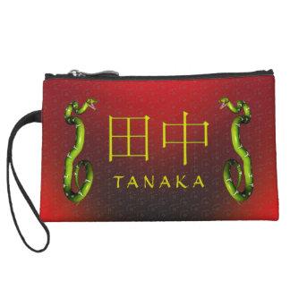 Tanaka Monogram Snake Wristlet Clutches