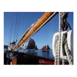 Tanbark Sails of a WA Wooden Boat Festival Postcard