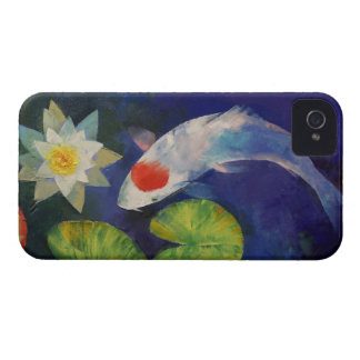 Tancho Koi and Water Lily Case-Mate iPhone 4 Case