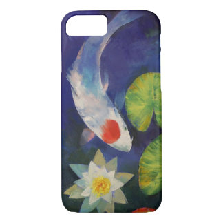 Tancho Koi and Water Lily iPhone 8/7 Case