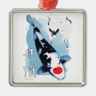 Tancho koi metal ornament