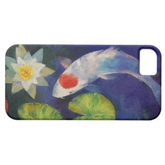 Tancho Koi y lirio de agua iPhone 5 Case-Mate Fundas