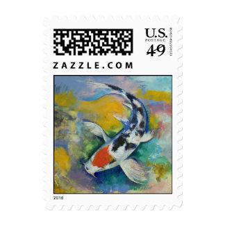 Tancho Sanke Koi Stamp