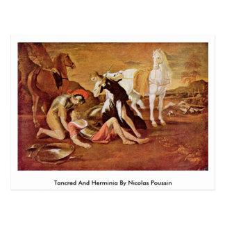 Tancred y Herminia de Nicolás Poussin Tarjeta Postal