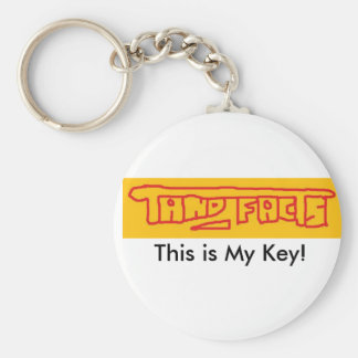 tand facts, This is My Key! Basic Round Button Keychain