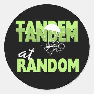 Tandem at Random Classic Round Sticker