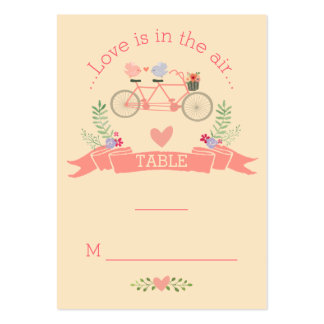 Tandem Bicycle and Birds Seating Placement Cards