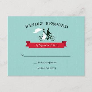 Tandem Bicycle Aqua Wedding RSVP