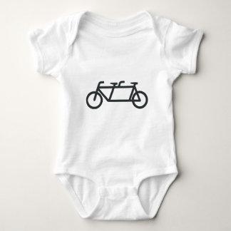 Tandem Bicycle Baby Bodysuit