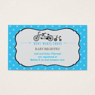 Tandem Bicycle Baby Shower Registry Card
