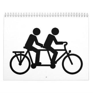 Tandem Bicycle bike Calendars