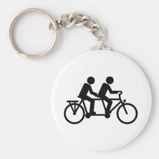 Tandem Bicycle bike Keychain