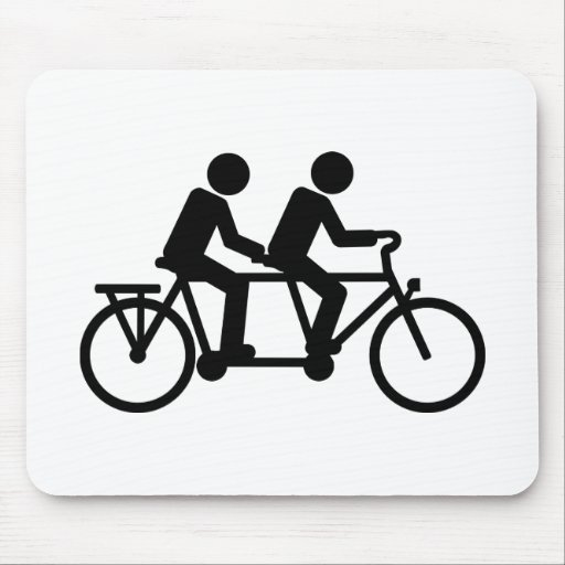 Tandem Bicycle bike Mouse Pads