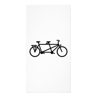 Tandem Bicycle bike Personalized Photo Card
