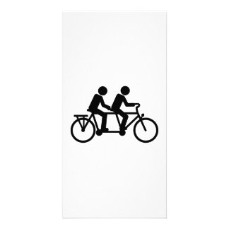 Tandem Bicycle bike Photo Cards