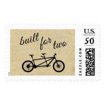 Tandem Bicycle Built for Two Vintage Script Bike Postage