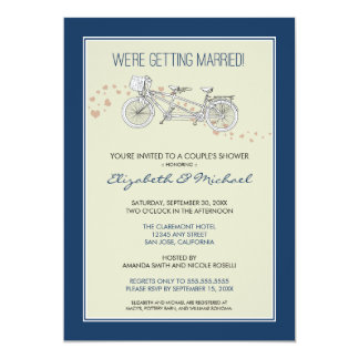 Tandem Bicycle 39 S Bridal Shower Invitation